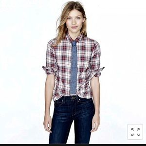 J. Crew Perfect Shirt, Red Plaid